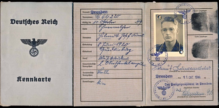 WW2 German Kennkarte ID Card Army Unteroffizier