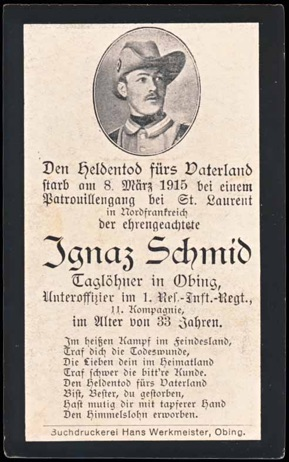 WW1 German Death Card Sterbebild Suedwester hat Colonial Schuetztruppe China Africa
