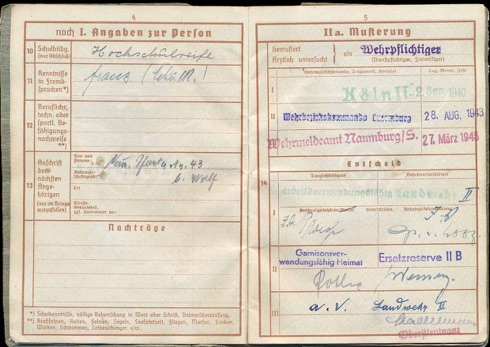 WW2 German Wehrpass Zimmermann lawyer court official Luxembourg Naumberg Saale